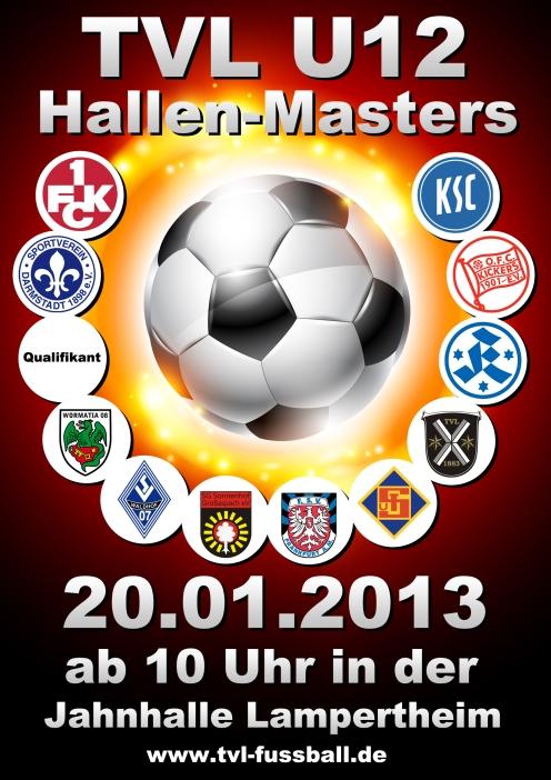 Turnierplakat zum TVL U12 Hallen-Masters 2013 beim TV Lampertheim