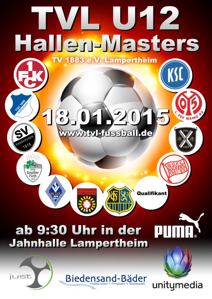 Turnierplakat zum TVL U12 Hallen-Masters 2015 beim TV Lampertheim