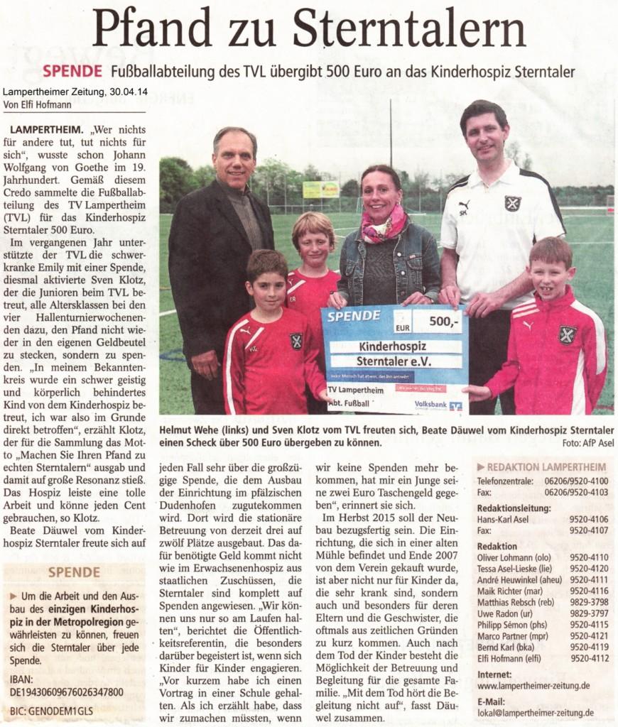 TV Lampertheim_Übergabe Spenden an Sterntaler_LZ_Onlineversion