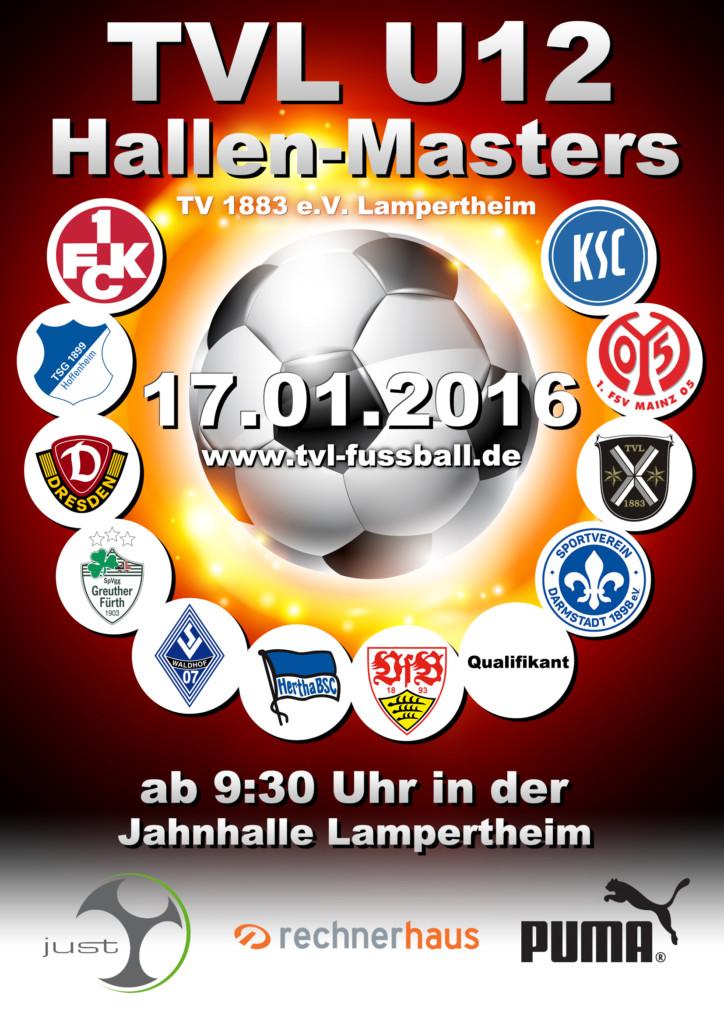 Turnierplakat zum TVL U12 Hallen-Masters 2016 beim TV Lampertheim